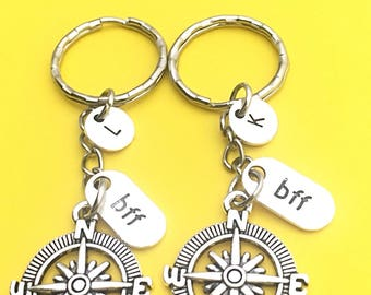 2 Best Friends, 2 bff keychains, bff keychain, set of 2 friend keychains, promise keychain, 2 best friends, bff 2, best friends forever gift