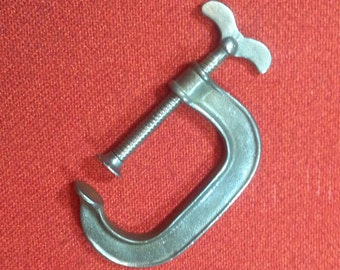"""Antique Screw Clamp Vintage High Quality 3"""" Steel C-Clamp"""