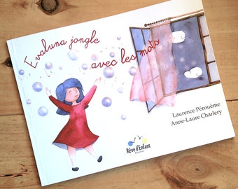 "Book for children ""Evaluna juggles with words"""