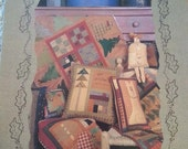 Glad Christmas Tide by Cheri Saffiote for Button Button Design & Calico Station - Primitive Quilt Pattern book - Stitchery
