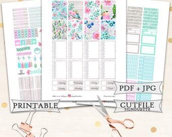Spring Season Planner Stickers/Printable Planner Stickers for erin Condren Lifeplanner/Spring Printable kit/Pastel Planner Stickers/Flower