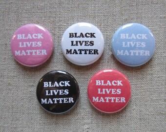 "Black Lives Matter 5 pack 1"" pinback button set"