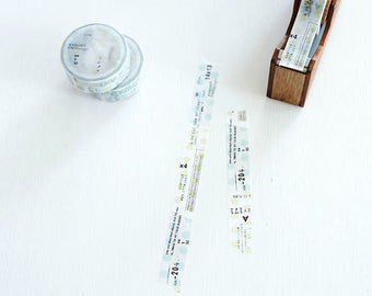 TOHAKU Waterdrop & Number Original Washi Tape