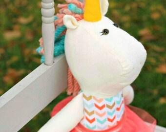 Custom Unicorn Doll / Plush / Plushie / Softie / Doll