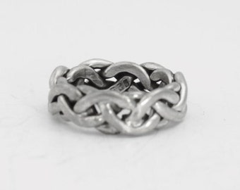 Sterling Silver Twisted  Band Sterling Silver