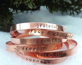 Inspirational Bracelet, Inspirational jewelry, Hand-Stamped Copper Bracelet, Women's Copper Cuff, Gift under 20, Gift for her