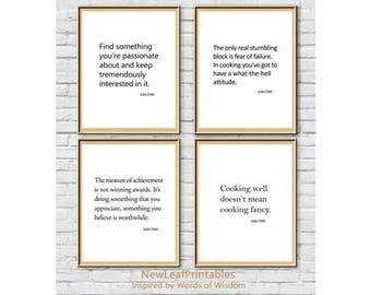 Printable wall Art Prints,Julia Child,Printable Quote, Instant Download Printable Art,Inspirational,set of 4 prints,Digital Print,Wall Décor