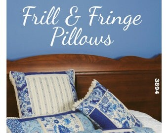 Sewing Pattern for Frill and Fringe Pillows, Kwik Sew Pattern 3894, Square Pillow, Rectangular Pillows, Bolster Pillow, Color Block Pillows