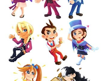 Ace Attorney - Phoenix Wright - Stickers/Magnets