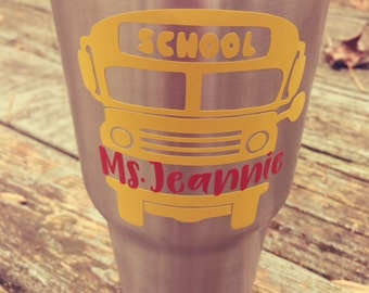 School Bus Personalized Decal