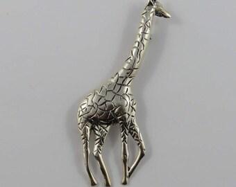 Sterling Silver Giraffe Pin