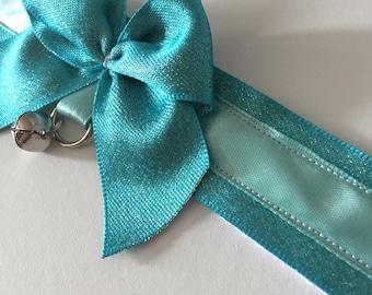 Glittery blue collar