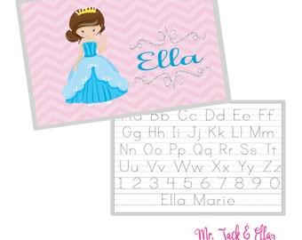 Cinderella Princess Placemat - Personalized Placemat - Children's Placemat - Child Placemat - Laminated Placemat