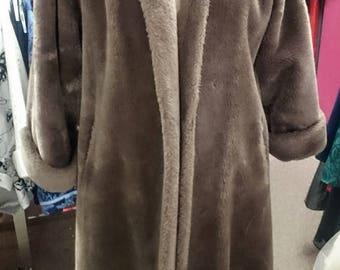 Coat Sale! Vintage 1950's Steiger's O'llegro Faux Fur Coat!