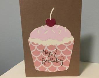 Cupcake - Birthday Card (Handmade)