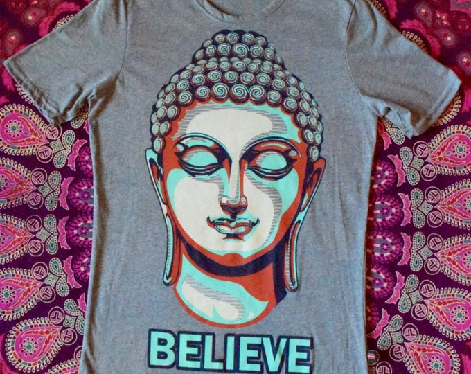 Believe Grey Buddha Tee