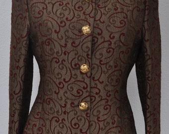 Vintage waisted jacket RUE DE GRENELLE Size 38 fr