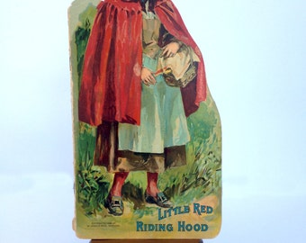 Little Red Riding Hood Book / Beautifully Designed & Illustrated / Antique Children's Book / 1896 McLoughlin Bros. New York