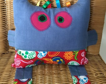 Cuddle Monster Pillow, Soft Toy, Baby Gift, Baby Shower Gift, Childs Toy, Bedtime Toy, Handmade Baby Gifts, Baby Pillow, Nursery Decor