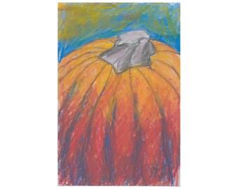 Fall Harvest - Pumpkin - original artwork
