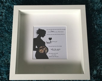 New Born Gift, Personalised Frame for a Baby Boy or Girl