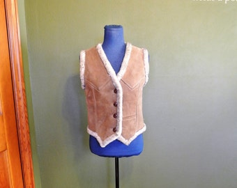 70s Ardney Suede and Pure Virgin Wool Vest
