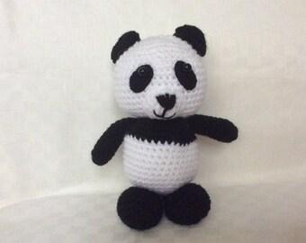 Crochet panda bear,photo props soft toy ,amigurumi,Christmas gift