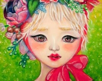 Cute Original Oil Painting Carnival Flowers Pop Surrealism Kpop kawaii