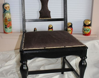 Little Black Gold Paine chair reupholstered