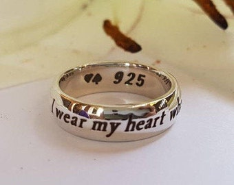 F. Scott Fitzgerald Ring, quote ring, Faith Jewelry, Handmade, Personalized ring, 925 sterling silver, God, Love, book jewelry