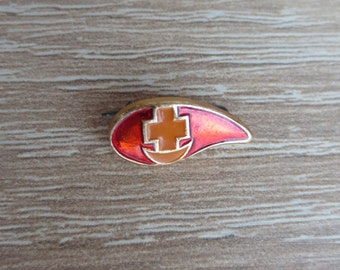 Blood drop, badge, pin, Soviet pin badges, medical badge, medical, blood, donor, red cross, made in USSR, Vintage, collections, Tiny badge