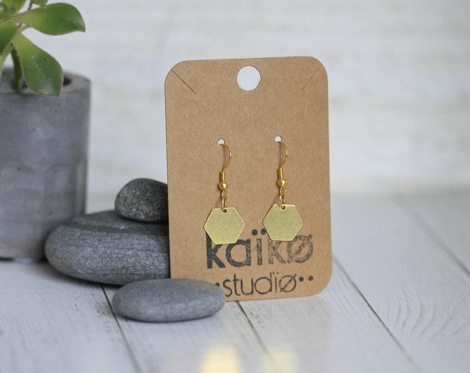 Various Geometric Brass Earrings | Minimalist | Geometric | Gift