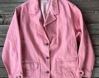 Medium LLBEAN dusty pink denim jacket