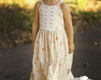 Girls Easter Dress, Girls Maxi Dress, Toddler Easter Dress, Girls Spring Dress,