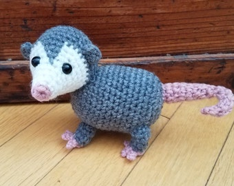 Opossum - Possum - crochet amigurumi stuffed toy