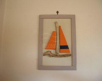 quadro faro legno mare decorazione parete muro shabby arredo - Arredamento Shabby Marino