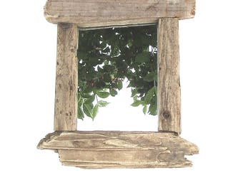 Wall Mirror - Driftwood Mirror - Nautical Mirror - Reclaimed Wood Mirror - Recycled - Wooden Mirror - Beach Mirror - Rustic Mirror