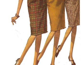 Simplicity 6137 Sewing Pattern, Waist 24 Hips 33 Women's Skirt Pattern, Slim Skirt Straight, Bandage Skirt Pattern, Midi Skirt