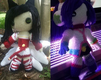 League of Legends Ahri crochet doll Classic skin and Arcade skin