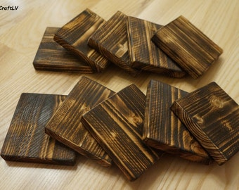 Set of 10 rustic wood boards, wood boards, burned wood, rustic wood boards, DIY craft, boards for home decoration