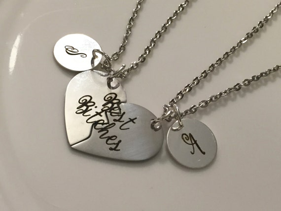 best friend necklace best friend charm best by gitoandariel