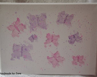 Original watercolour of butterflies