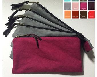 Choose your color,Zipper pouch,Men,Customer color,Cosmetic bag,Pencil Case,Cute Canvas flat pouch,Thailand,Plain bag,Screen print,Gift items
