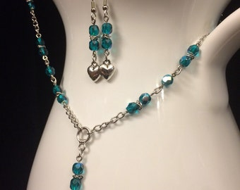 Melancholy Beaded Chain and Earrings