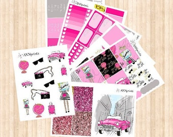 AP036 Travel the world weekly planner stickers erin condren happy planner