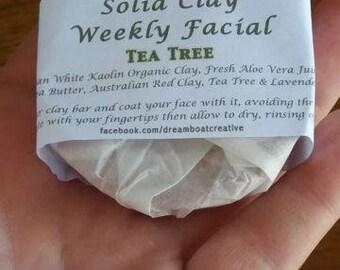 Solid Facial Clay - Lavender, Tea Tree or Plain