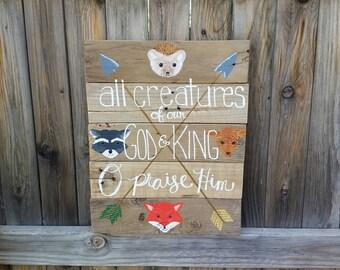 Custom Wood Pallet Sign