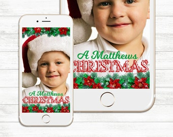 Family Christmas Snapchat Geofilter, Holiday Event Snapchat, Happy Holidays, Merry Christmas, Holiday party Custom Snapchat filter Christmas