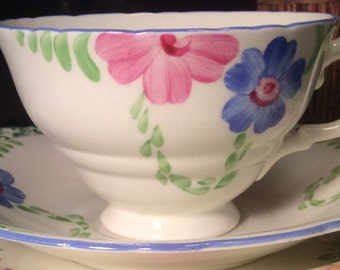 Pretty in Pink-Delphine Art Deco Teacup and Saucer