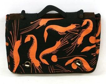Satchel bag - Freshwater Shrimps by Reuben Manakgu